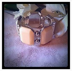 Vintage Large Lucite Panels Bracelet